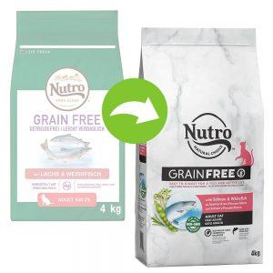 Nutro Grain Free Adult Salmon & White Fish - Ekonomipack: 3 x 4 kg