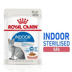 Royal Canin Indoor Sterilised i sås - 48 x 85 g