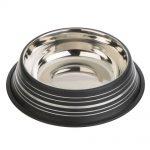 Silver Line mattsvart kattskål i rostfritt stål - 450 ml, Ø 20 cm