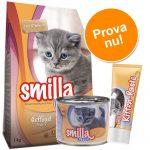 Smilla Kitten starter-set + pastej - 1 kg torrfoder + 6 x 200 g våtfoder med kalv + pastej