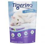 Tigerino Crystals Lavendel kattsand med lavendeldoft - Ekonomipack: 3 x 5 l
