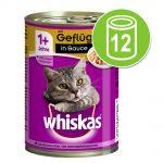 Whiskas 1+ burkar 12 x 400 g - 1+ Fjäderfä i sås