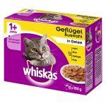 Whiskas 1+ portionspåsar 12 x 100 g - 1+ Klassiskt urval i sås